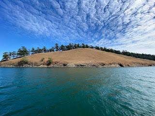 A view of Spieden Island in the San Juan Islands.