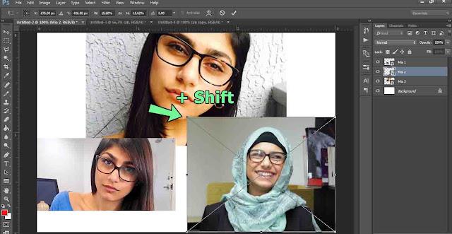 Cara mengatur lebar gambar di photoshop tanpa peot dan tetap simetris sama sisinya seperti awal