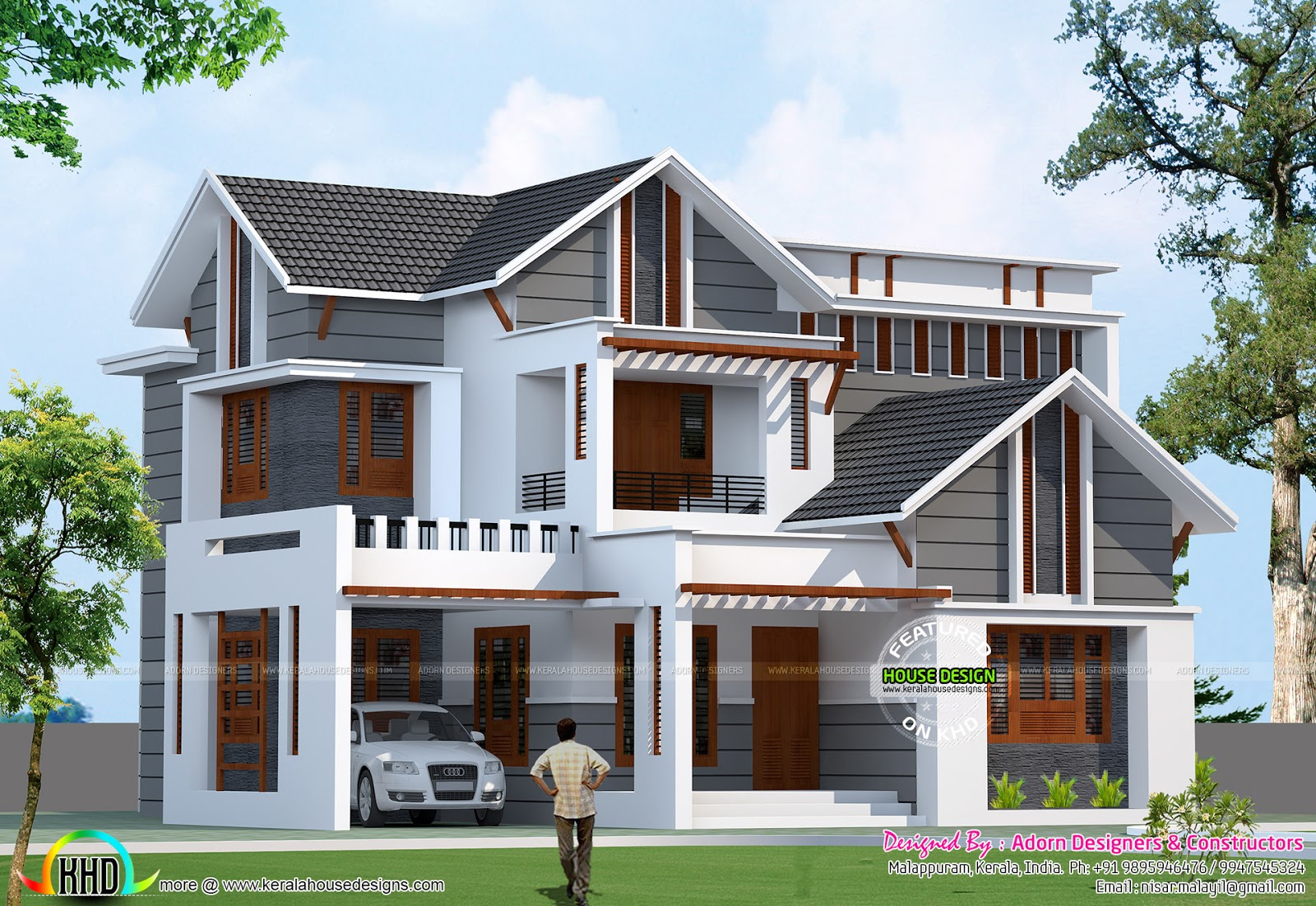 1970 square feet modern mix home kerala home design and for 1970 home designs