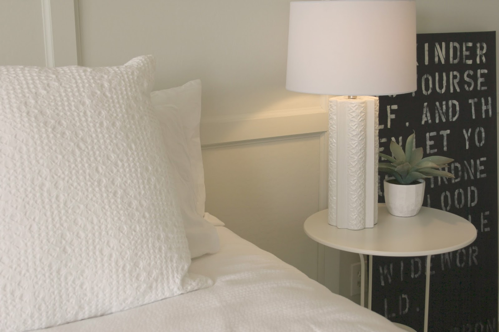 Black and white modern farmhouse style bedroom in Arizona - Hello Lovely Studio