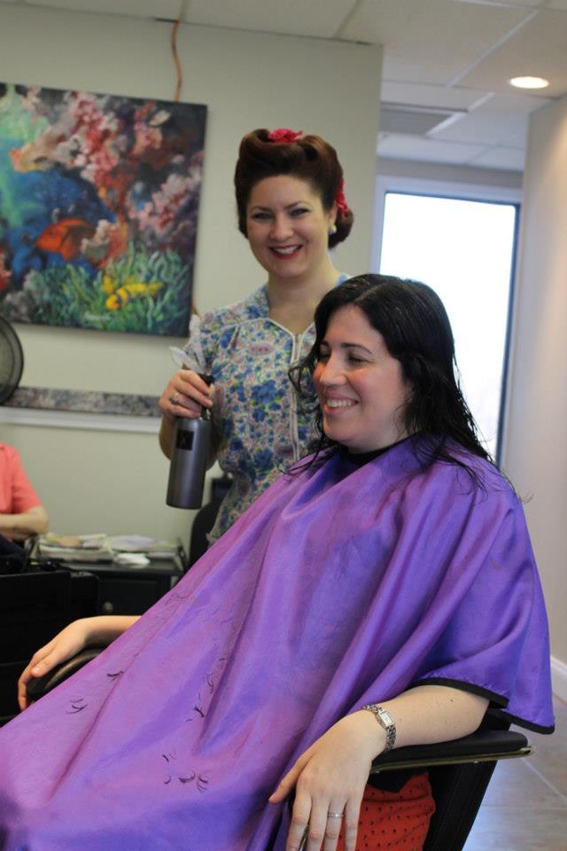Bunny Moreno gets a vintage hair cut