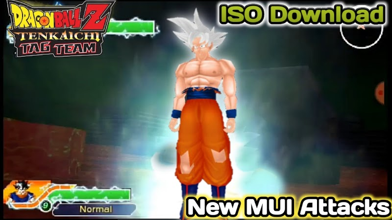 Dragon Ball Z Tenkaichi Tag team Mod With New MUI Goku Model PSP ISO