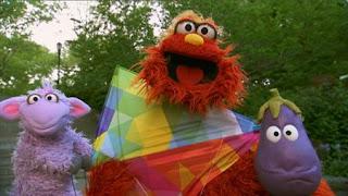 Murray's Monster Measuring, measuring his kite, eggplant, Ovejita, Sesame Street Episode 4408 Mi Amiguita Rosita season 44