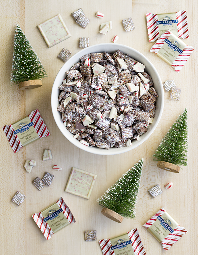 Peppermint Bark Reindeer Chow