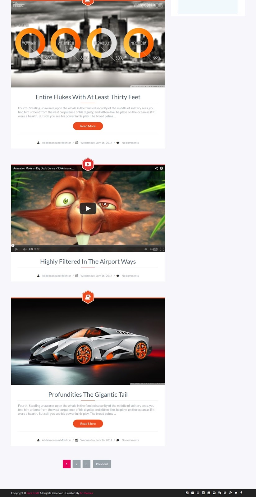 Sora Craft Responsive Blogger Template Demo Part 2