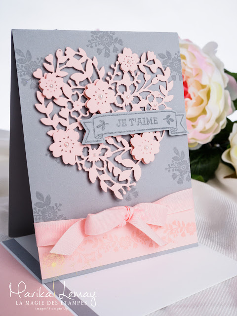 carte avec le jeu éclosion d'amour stampinup