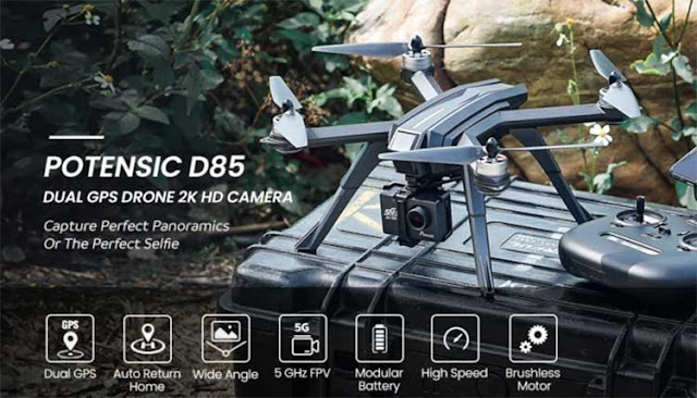 Potensic D85 FPV GPS Drone with 2K HD Camera Review