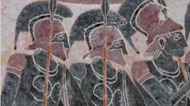 Έλληνες οπλίτες σε πόλεμο