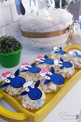 decoração no tema ovelha
