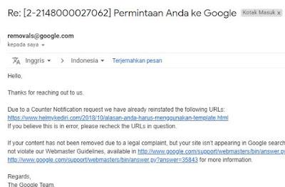 Cara mengajukan banding adsense karena pelanggaran DMCA