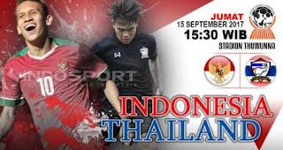 Susunan Pemain Indonesia vs Thailand - Semifinal AFF U18 2017 Myanmar