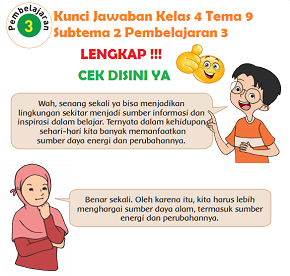Kunci Jawaban Kelas 4 Tema 9 Subtema 2 Pembelajaran 3 www.simplenews.me