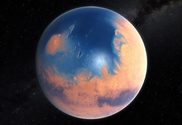 Scientists say Most of Mars' Water is Still There, just Locked up in Rocks