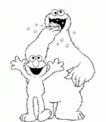 Gambar Mewarnai Elmo - 11