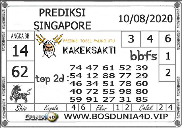 Prediksi Togel SINGAPORE DUNIA4D 10 AGUSTUS 2020
