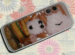 2007年12月 子供に楽しくお弁当を食べて貰いたいから始めたキャラ弁
