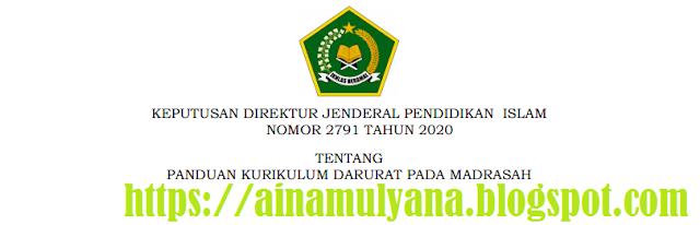 Panduan Kurikulum Darurat Pada Madrasah (RA, MI, MTs dan MA)