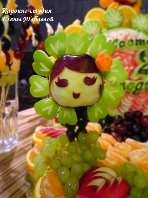 фруктовые фигурки девочка-цветочек