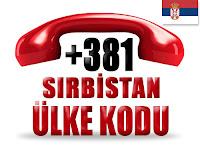 +381 Sırbistan ülke telefon kodu