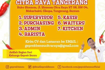 Info Lowongan Kerja Geprek Bensu Tangerang