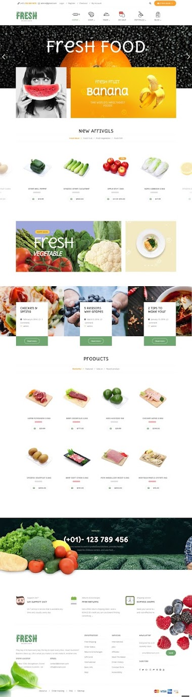 Food And Restaurant ECommerce Website Design By AJ Agency
