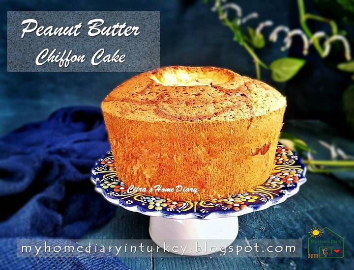 PEANUT BUTTER CHIFFON CAKE | Çitra's Home Diary