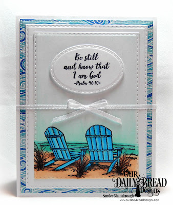 Our Daily Bread Designs Stamp Set: Come to Me, Custom Dies:  Pierced Rectangles, Double Stitched Rectangles, Stitched Ovals, Paper Collection: By the Shore