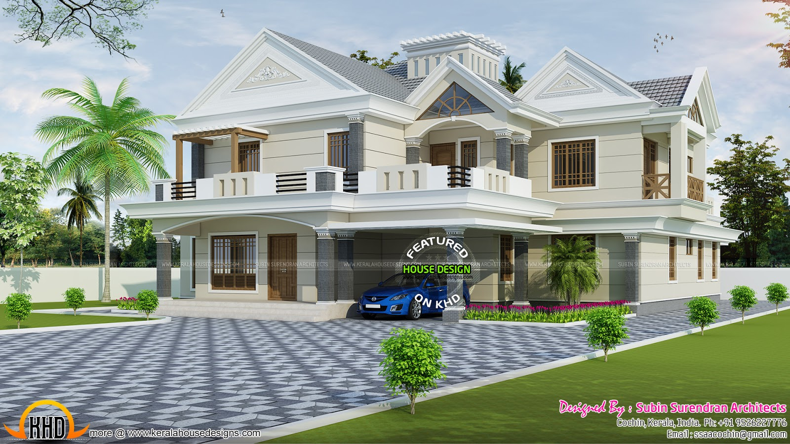 luxury modern sloping roof 4 bedroom home