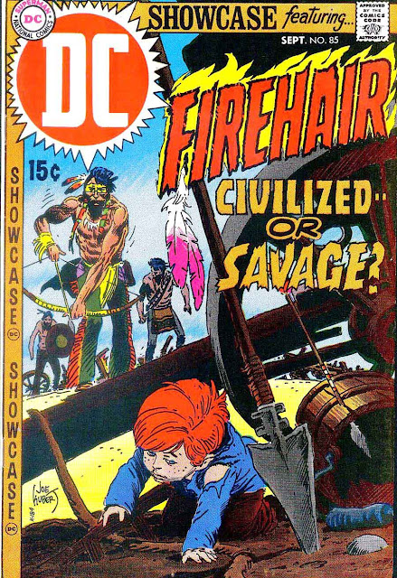 Showcase v1 #85, 1969 - DC bronze age comic book cover by Joe Kubert - 1st Firehair