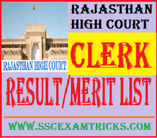 Rajasthan High Court Clerk Result