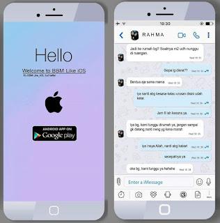 BBM Mod Style Theme iPhone Versi v3.3.7.97