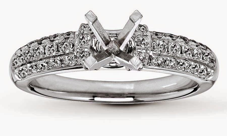 Wedding Rings Without Center Stone Diamond Settings