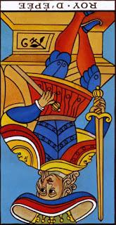 Roi d'épée à l'envers