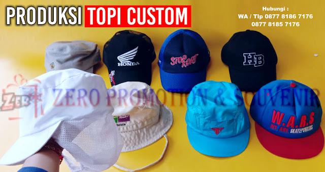 Topi Custom Design Bebas, Souvenir topi design sendiri, Topi Custom Harga Murah, Topi partai, Topi Promosi, topi Bank, topi security, topi bola dan masih banyak lainnya