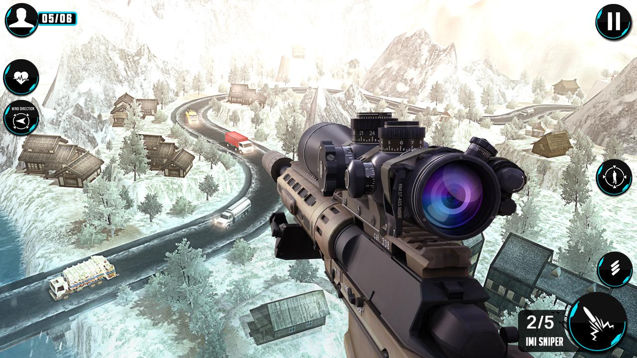 mountain sniper shooting 3d mod apk