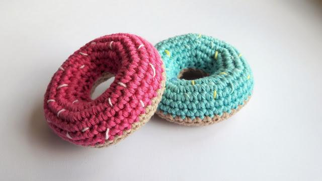 donuts , dinette au crochet , crochet , dinette tuto