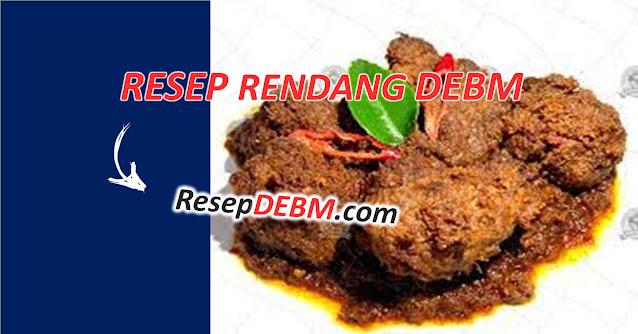 Resep Rendang DEBM
