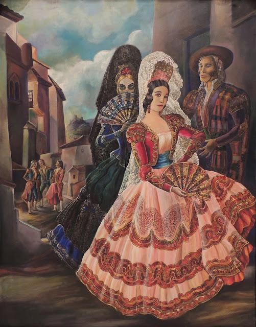 Ramón Lopez Morelló pintura tradicional muerte toros