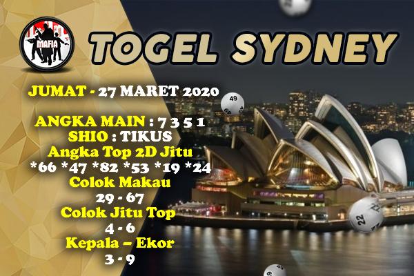 Prediksi Togel Sidney Jumat 27 Maret 2020 - Prediksi Mafia