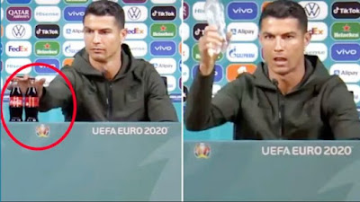 Cristiano Ronaldo Singkirkan Botol Coca-Cola, Dulu Ternyata Pernah Jadi Bintang Iklannya