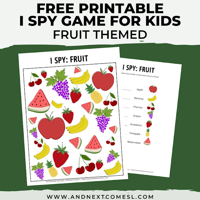Printable I spy games for kids