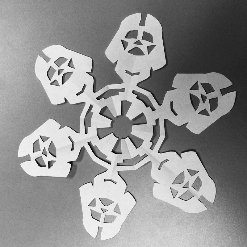 If It S Hip Here Archives Snowing Star Wars 10 New Diy Paper Snowflake Templates