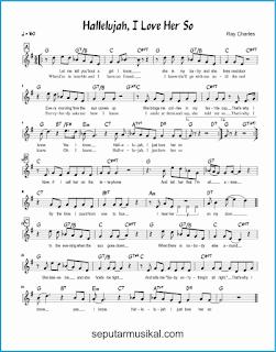 chord hallelujah, i love her so lagu jazz standar