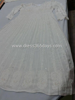 Anarkali With Heavy Chikankari Embroidery