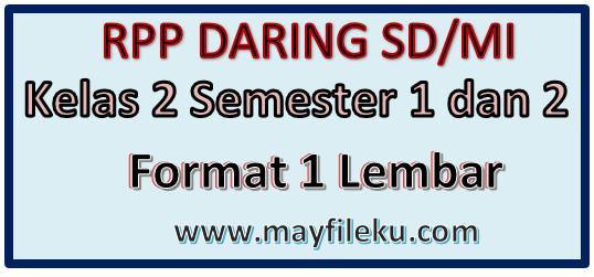 Rpp Daring Sd Mi Kelas 2 Semester 1 Dan 2 Revisi 2020 2021 Mayfile