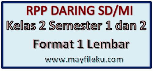 RPP Daring SD/MI Kelas 2 Semester 1 Dan 2 Revisi 2020/2021