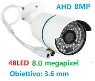 telecamera 8mpx 48 led ahd hd