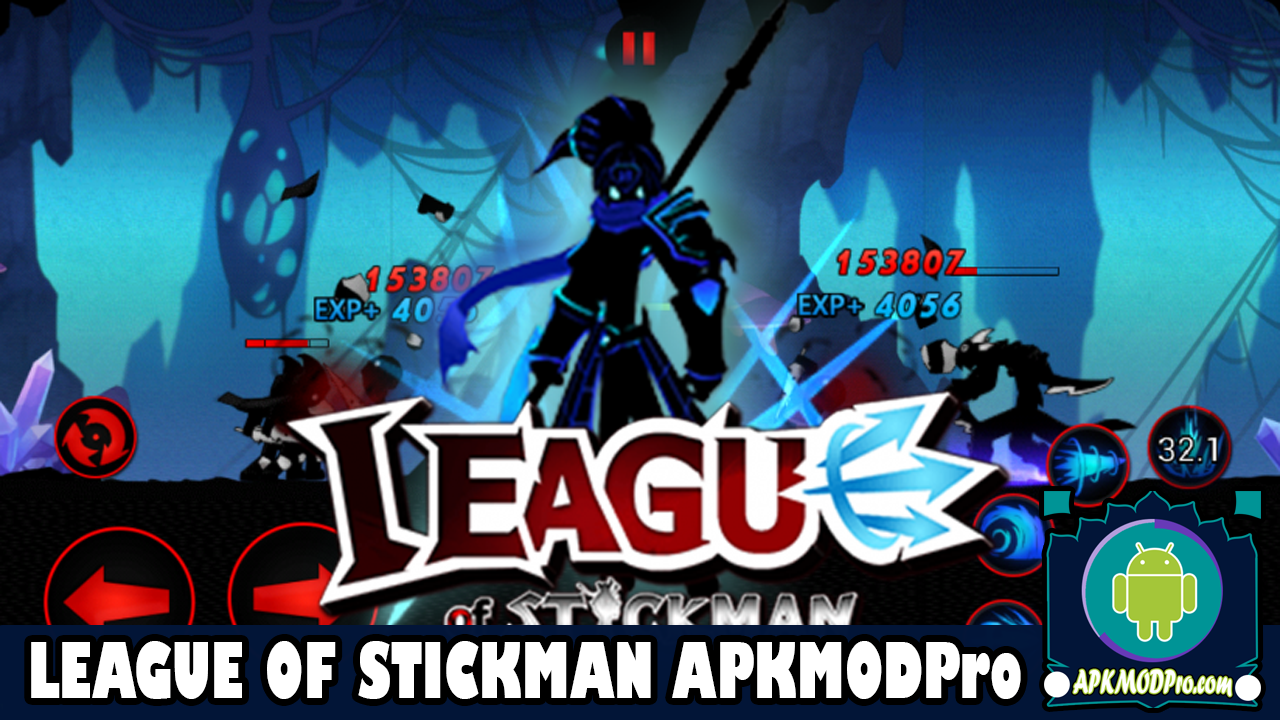 League of Stickman MOD APK 5.9.2 (Free Shopping, No Skill CD) Terbaru 2020