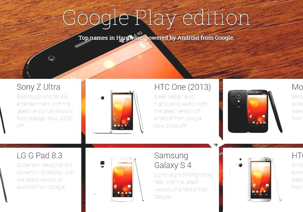 List Of Google Play Edition Devices - Google I Phone