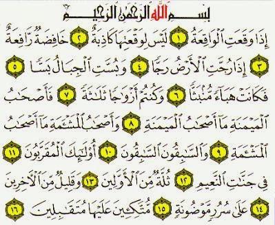 Keistimewaan Dan Manfaat Surah Al Waqiah Artikel Smua 21